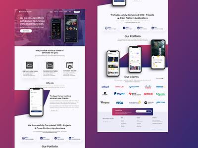App dev Website Landing page vector ux ui design