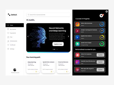 DeltaX - Learning Webapp vector branding app design