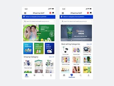 Pharma App branding mockup app ux ui design