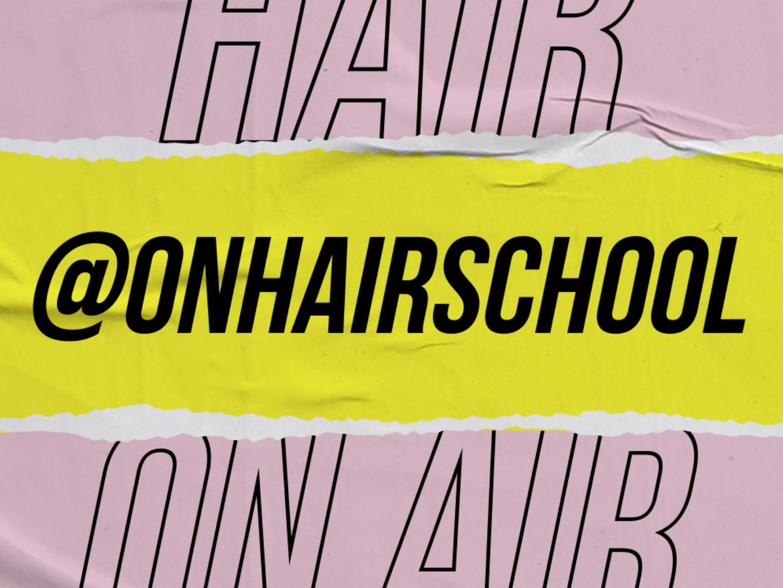 Onhair school branding design brand advertising design type artdirection typography branding