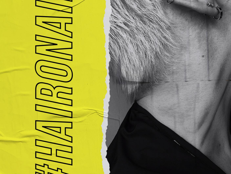 Onhair school digital vector branding design brand advertising design type artdirection typography branding