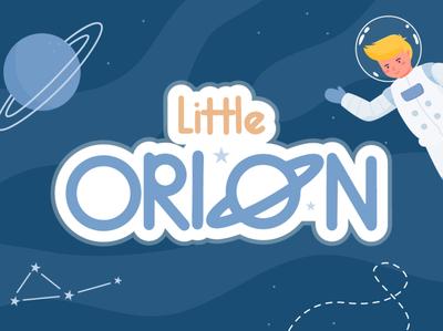 Little Orion Font Freebies kids font astronaut galaxy space lovely font cute handwritten font illustration freebies font