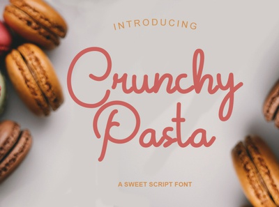 Crunchy Pasta Font script font script lovely font handwritten font freefont freebies free fonts font beauty