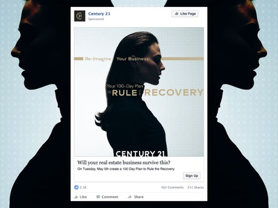 Rule the Recovery Facebook post mockup