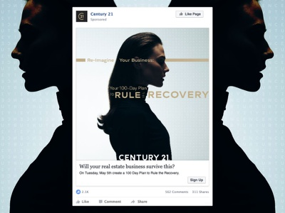 Rule the Recovery Facebook post mockup indesign photoshop facebook ad ad facebook agent design graphic design century 21 real estate