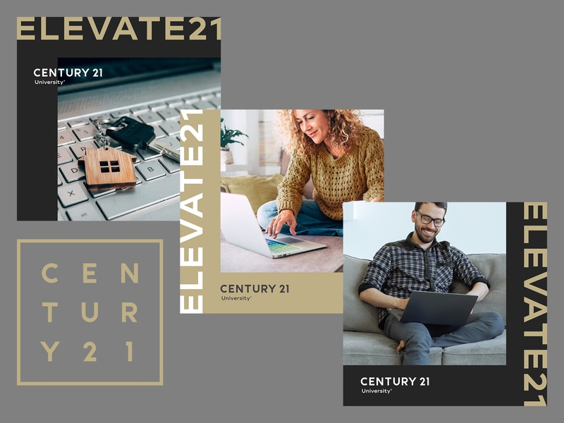 Century 21 Elevate21 Facebook ad graphics work from home learning from home learning training school university class jpg graphic ad facebook real estate century 21 photoshop indesign
