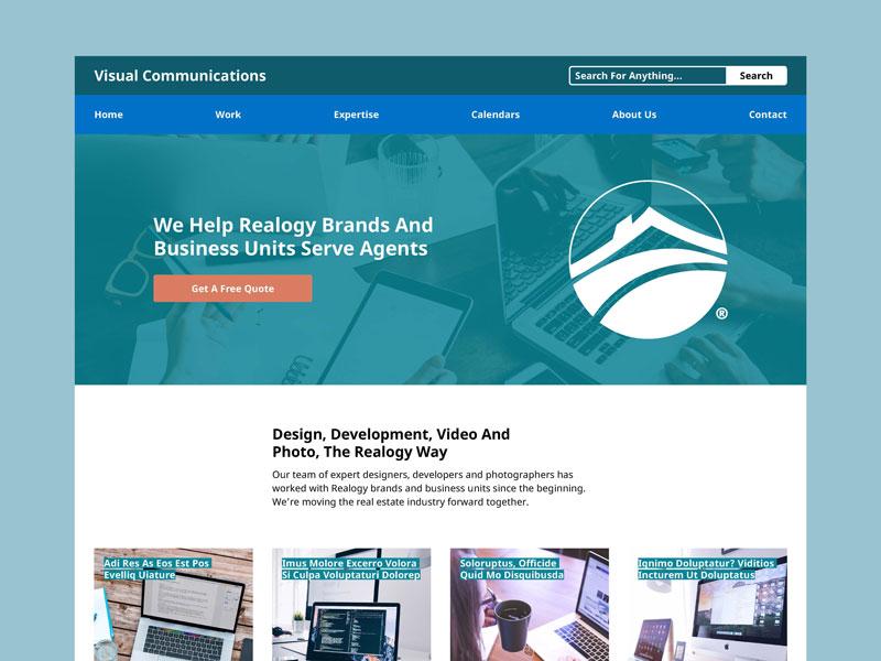 visual communications 2018 website work in progress by paul