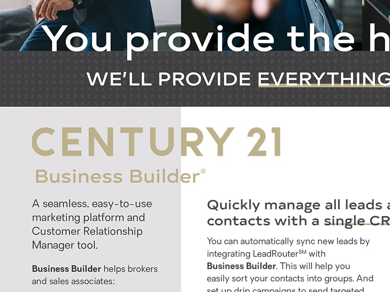 Century 21 Business Builder Flyer real estate print email newsletter flyer crm century 21 business builder business builder broker agent