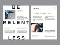 'Be Relentless' Business Builder flyer - Work in progress