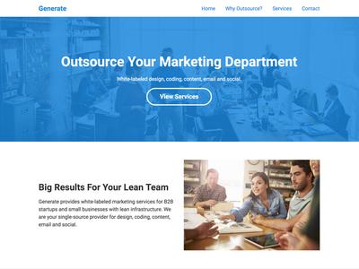 Generate Marketing Website