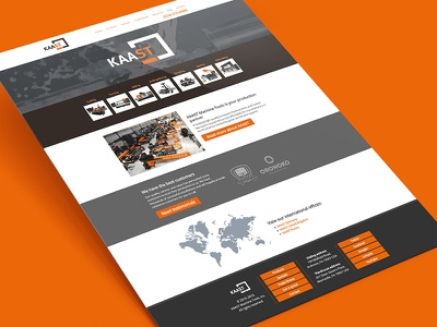 Kaast 2015 responsive home page redesign machine tools manufacturing redesign responsive web development front end development web design website wordpress php css html
