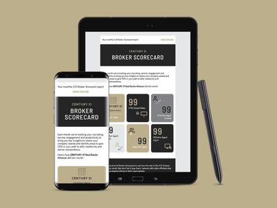 CENTURY 21 Broker Scorecard HTML email template