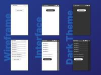 Wireframe, interface, and dark theme