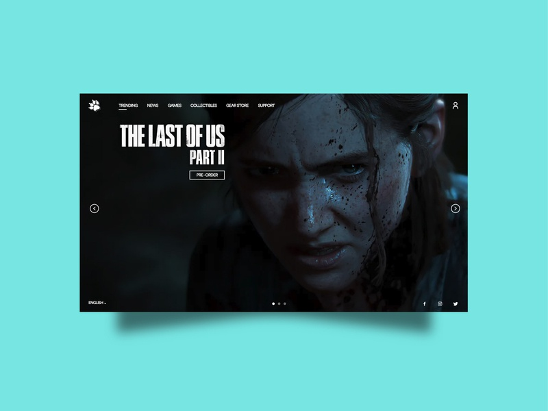 Naughty Dog Website Concept website template photoshop illustrator website concept website design design webdesign website ellie the last of us naughty dog
