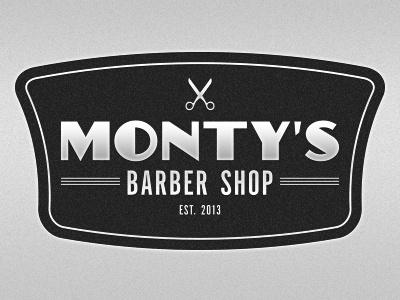 Monty's Logo branding logo barber 50s autoshop chrome