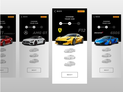 Pirelli PZero Concept App prototype inspiration marketing uidesign uxdesign design automotive app ux ui web car
