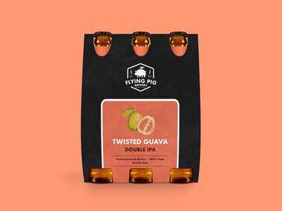 Flying Pig Brewery's Twisted Guava Packaging Design