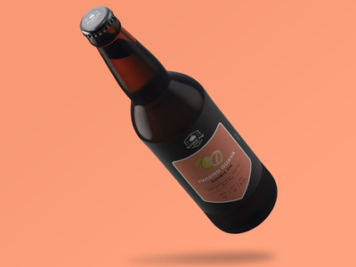 Flying Pig Brewery Twisted Guava Bottle Design