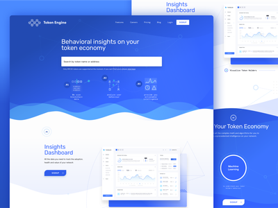 Landing Page for a new Tool for Token Economy ux user interface blue token graphic design graphic ui design ui landing landing page design landing page