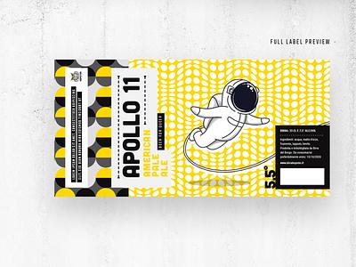 Beer Label branding graphic design optical illustration pattern beer label packaging