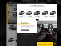 Responsive web site for Automotive