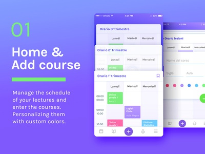 Mobile ui to Schedule Your lectures