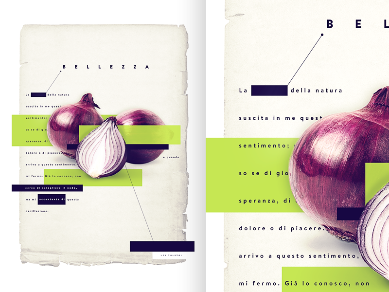 #Bellezza  - Poster for Italianism Conference ideas onion typography graphic design visual poster