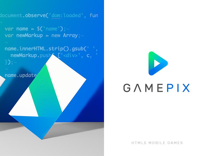 New logo for Html5 Mobile games Platform gradient html5 games graphic design visual design brand identity brand logo