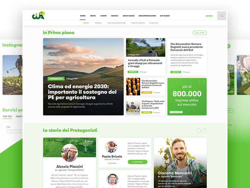 Ux and Ui for new web Magazine about Agricolture typography user interface graphic design design magazine web design ux ui