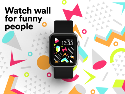 New funny ⌚️apple watch wallpaper graphic design colors background graphic pattern wallpaper glance apple watch