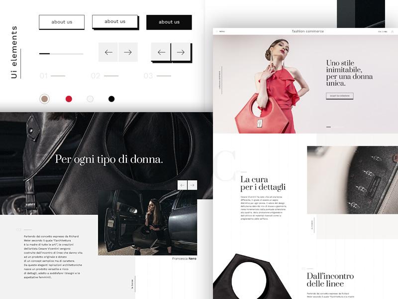 E-commerce for luxury bag web design user interface style guide luxury bag design ux ui e-commerce