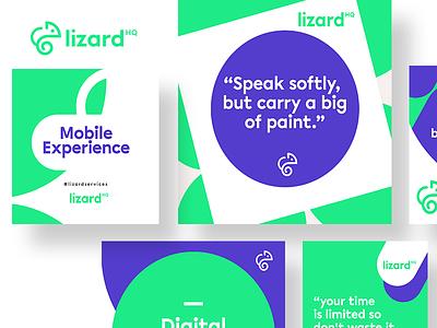 Brand identity Assets for New Logo Design cards lizard system graphic design visual brand identity logo