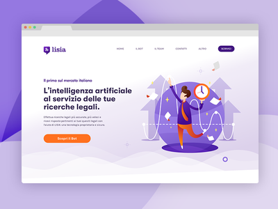 Landing Page for Legal Chatbot law legal visual brand identity chat chatbot logo landing page