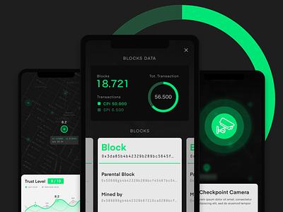 Mobile Ui - Geo Location Platform on the Blockchain wip graphic maps dark theme blockchain mobile ui app ui
