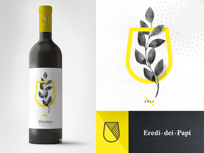 Wine Label yellow brand graphicdesign identity wine design packaging label wine label