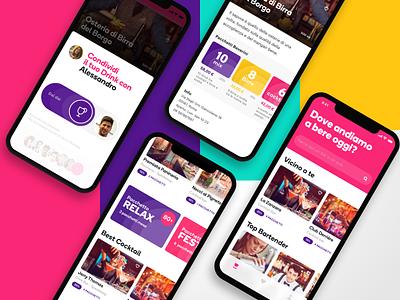 TuDrink - App for Drink drinks typography ux colors mobile ui illustration mobile app user interface design ui