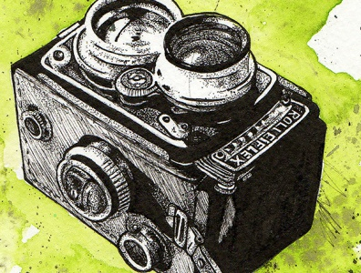 Rolleiflex Vintage Camera for Society6