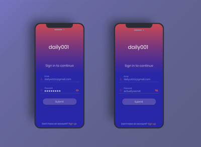 Daily UI 001 Log In