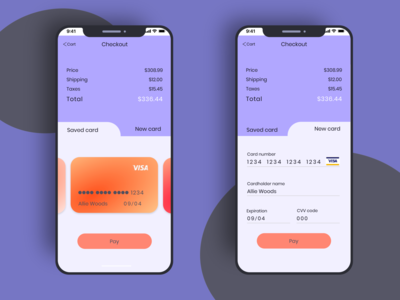Daily UI 002 Credit Card Check Out