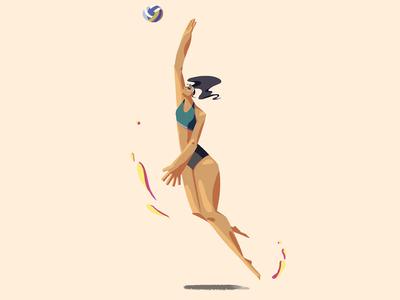 beachvolleyball athlete