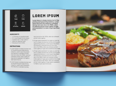 Cookbook Layout Design