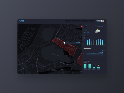 Turbo - A Solar energy system app web ux ui