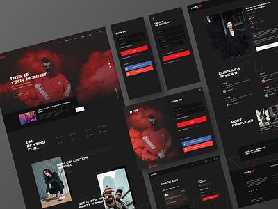 Hype2u  - Commercial Website web design ui ux app