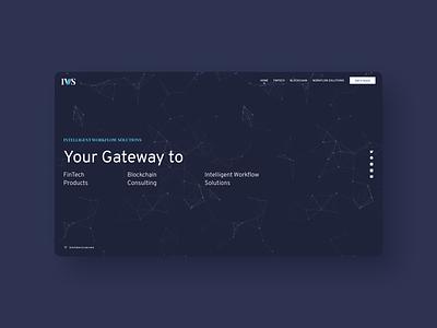 IWS Website dark web design ui website