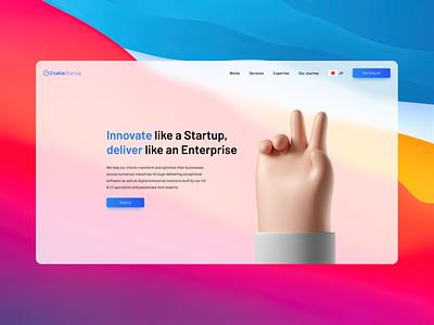 Enable Startup - New look branding design website web ui