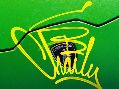 🖍️Graffiti Art graffiti art decals sircharles design lamborghini typography logo logotype brand identity branding design branding typography graffiti illustration
