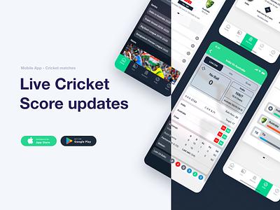 New Live Line ux ui sports cricket design illustration vector typography iconography mobile app design ux design ui design