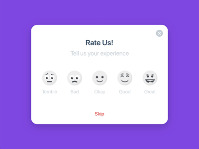 Rate Your Experience design interaction design animation graphicdesign ux design ui design