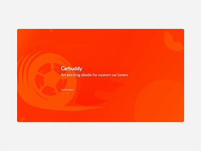 CarBuddy Case Study Page Interaction branding vector web ux ui design animation mobile app design ux design ui design