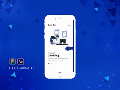 Liquid Animation mobile app design vector ui design animation